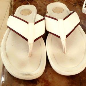 Gucci white sandals size 11